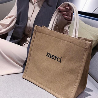 Ungrid - メルシー トートバッグ  ベージュ 大容量 エコバッグ サマーバッグ
