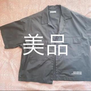 WEGO - シャツ ジャケット 半袖 オープンカラーシャツ ミリタリーシャツ 5分丈 夏