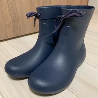 クロックス(crocs)のクロックス レインブーツ w9 ネイビー(レインブーツ/長靴)