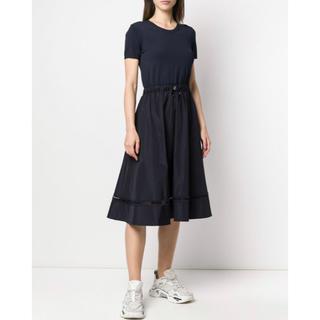 モンクレール(MONCLER)の最終売り切り価格☆モンクレール 2020新作ワンピース ドレス M ネイビー(ひざ丈ワンピース)