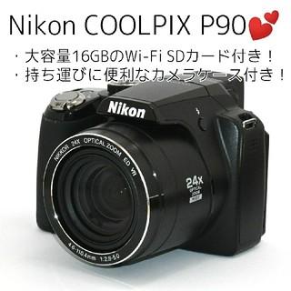 Nikon - 【Nikon】Wi-Fiでスマホへ♡光学24倍ズーム♡COOLPIX P90
