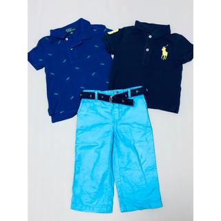 Ralph Lauren - ラルフローレン POLO ポロシャツ&パンツ 3点セット 80 85 90