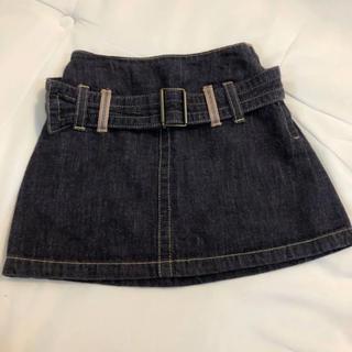 バーバリー(BURBERRY)のバーバリー デニムスカート 80 90(スカート)