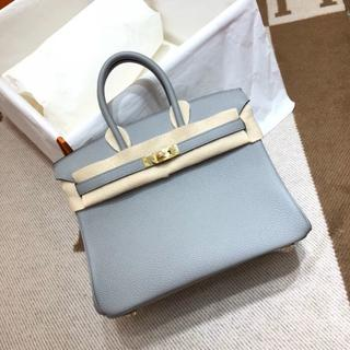 Hermes - 2012亜麻の花のようなブルーリンハンドバッグ水色(金金具)BK30