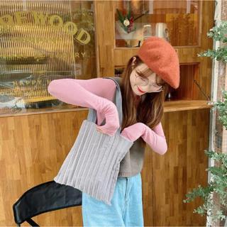 アメリヴィンテージ(Ameri VINTAGE)の☆新品未使用☆韓国ファッション☆プリーツトートバッグ☆ギャザーエコバッグ(トートバッグ)
