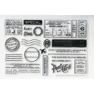 クリアスタンプ コラージュアソート⑤ポストカード