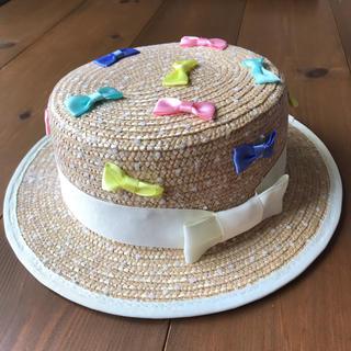 ユニカ(UNICA)のユニカ 麦わら帽子 カンカン帽 S(帽子)