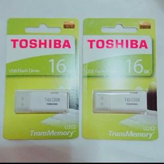 TOSHIBA製USBメモリー2つ 16GB×2 合計32GB