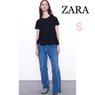 ZARA - 【新品未使用タグ付き】ZARA フリル付き Tシャツ