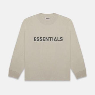 FEAR OF GOD - Mサイズ ベージュ essentials long sleeve tシャツ