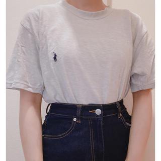 POLO RALPH LAUREN - ポロ グレー半袖Tシャツ used