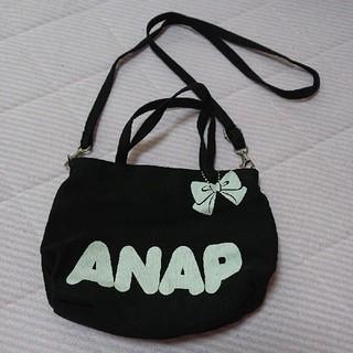 アナップ(ANAP)のアナップキッズ ショルダーバック レディース 黒(ショルダーバッグ)