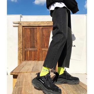 ハレ(HARE)の新品タグ付き neos 裾カットオフヴィンテージ加工デニムパンツ(デニム/ジーンズ)