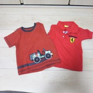フェラーリ(Ferrari)のK^^K様専用 フェラーリシャツ1枚 半袖 サイズ80 乗り物大好き 夏服(シャツ/カットソー)