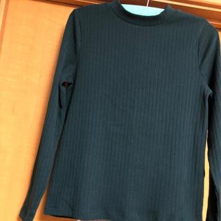 ローリーズファーム(LOWRYS FARM)のローリーズファーム☆リブロンT 深緑色(Tシャツ(長袖/七分))