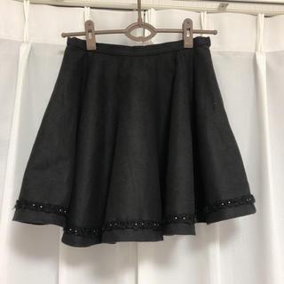 リリーブラウン(Lily Brown)のリリーブラウン ミニスカート  ブラック 黒 lilybrown スナイデル(ミニスカート)