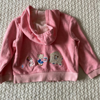 familiar - ファミリア ピンク パーカー 90 女の子 ベビー トップス はおり