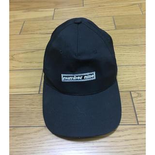 NUMBER (N)INE - 中古ナンバーナイン黒キャップ帽子フリーサイズ