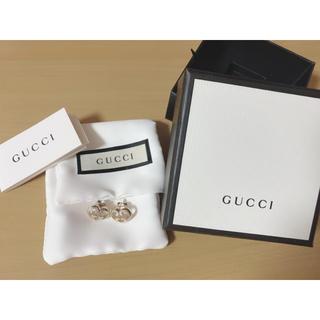 Gucci - GUCCI  ハート シルバー SV925 GG ロゴ ピアス 美品