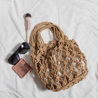 アングリッド(Ungrid)のバケット型 サマーバッグ 編みバッグ ベージュ ブラウン ハンドバッグ(ハンドバッグ)