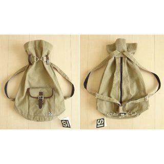 CANVAs RUCk bagpack リュック 巾着タグ付き VIntage
