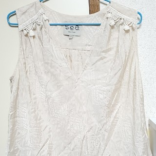 シー(SEA)のSeaの袖無しカットソー(カットソー(半袖/袖なし))