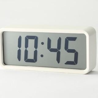 ムジルシリョウヒン(MUJI (無印良品))の●新品未開封● 無印良品デジタル時計・中 掛置時計/ホワイト(置時計)