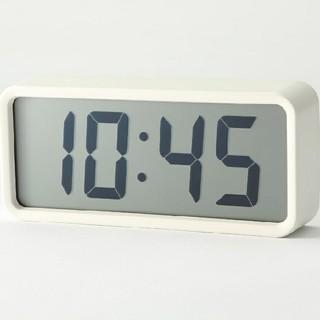 ムジルシリョウヒン(MUJI (無印良品))の■新品未開封■ 無印良品デジタル時計・中 掛置時計/ホワイト(置時計)