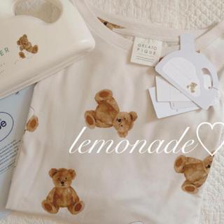 ジェラートピケ(gelato pique)のレア♡ベアモチーフドレス♡ベージュ(ルームウェア)