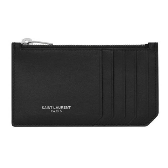 Saint Laurent(サンローラン)のSAINT LAURENT PARIS ジップ カードケース (スムースレザー) メンズのファッション小物(コインケース/小銭入れ)の商品写真