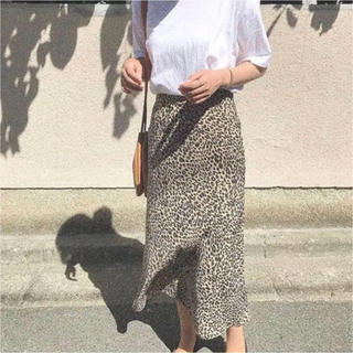 トゥデイフル(TODAYFUL)のnokcha レオパードミドルスカート(ロングスカート)