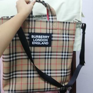 バーバリー(BURBERRY)のBurberry ヴィンテージチェックトートバッグ(トートバッグ)