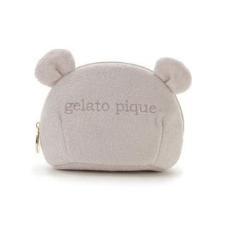 gelato pique - ジェラートピケ gelato pique コットンパイルベアポーチ ベージュ