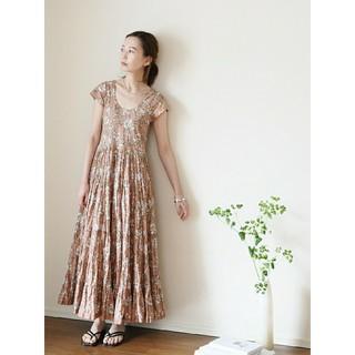 IENA - IENA イエナ MARIHA マリハ 別注 草原の虹のドレス ショートスリーブ