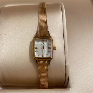 agete - ⭐︎美品⭐︎agete アガット 腕時計 0.02ct ダイヤ ピンクゴールド