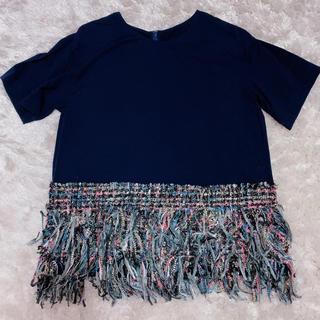 チェスティ(Chesty)のchesty ツイード切り替えTシャツ(Tシャツ(半袖/袖なし))