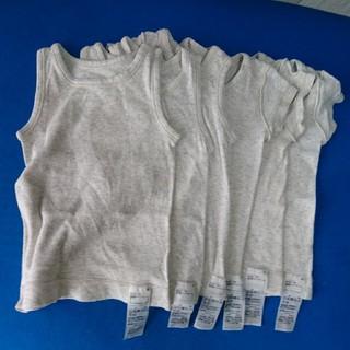 MUJI (無印良品) - MUJI 肌あたりがやさしい肌着6枚 半袖シャツ&タンクトップ まとめ売り