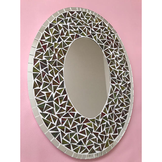 フランフラン(Francfranc)のモザイクミラー★タイル風鏡 ウォールミラー(壁掛けミラー)