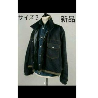 サカイ(sacai)のサイズ3 完売品 新品 サカイ sacai デニム ジャケット(Gジャン/デニムジャケット)