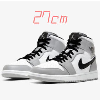 NIKE - NIKE AIR JORDAN 1 MID SMOKE GREY 27