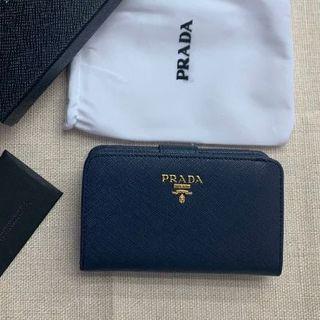 PRADA - 期間限定 プラダ折り財布 ネイビー