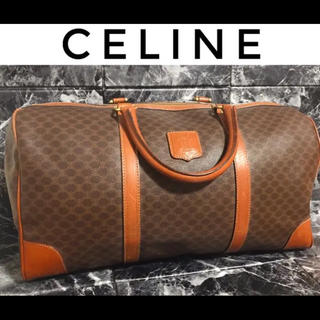celine - 【美品】CELINE セリーヌ マカダム柄 ハンドバッグ ボストンバッグ