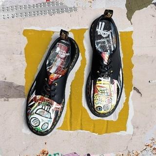 Dr.マーチン×バスキア 1461 3ホール 革靴 黒(ブーツ)