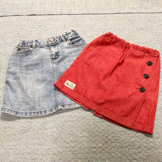ユニクロ(UNIQLO)の女の子用デニムスカート(スカート)