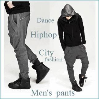 グレー XL メンズ 春夏 サルエルパンツ ルーズパンツ ストリート系 ダンス(サルエルパンツ)
