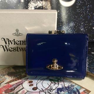 Vivienne Westwood - 新品 ヴィヴィアン 折りたたみ財布 ブルー