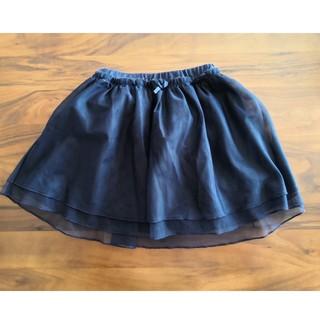 ユニクロ(UNIQLO)のユニクロ チュールスカート 100 紺色(スカート)