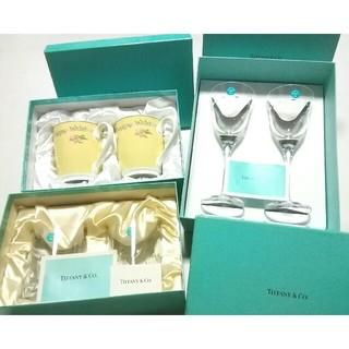 Tiffany & Co. - 大人気ブランド食器(ティファニーワイングラス&ロックグラス&マグカップ)3点新品