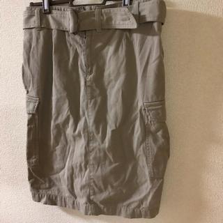 エイチアンドエム(H&M)の新品未使用 ハイウエスト ミニタリースカート(ひざ丈スカート)