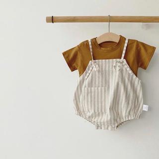 ZARA KIDS - 【新品未使用】韓国子供服 サロペット サイズ90 (ボンネット付き)